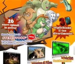I Saurini 3D, il primo cartoon 2D in stereoscopia