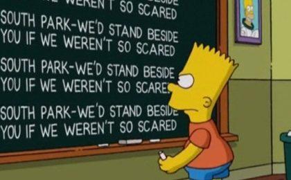 I Simpson esprimono solidarietà a South Park
