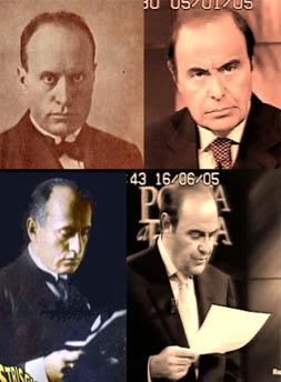 Bruno Vespa e Benito Mussolini