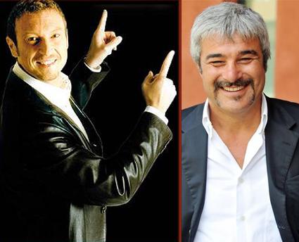 Amadeus e Pino Insegno in 'contemporanea' su Rai e Mediaset