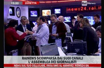 RaiNews 24 in sciopero contro il digitale terrestre
