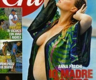 Anna Falchi col pancione su Chi