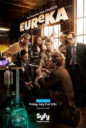 il poster della quarta stagione di eureka