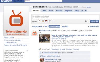 Televisionando spopola su Facebook: raggiunta quota 2000 amici
