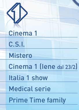 Mediaset palinsesto primavera 2011 italia1 primetime
