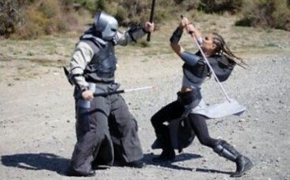 Nina Senicar guerriera in Dark Resurrection