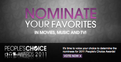 People's Choice Awards 2011, le nomination tv