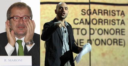 """Vieni Via con Me, Saviano: """"Maroni come Sandokan"""", Maroni: """"Lo querelo"""""""