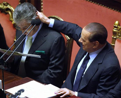 Governo Berlusconi, la fiducia in tv