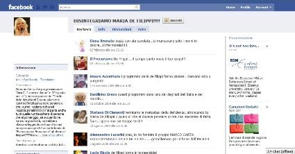 disintegriamo maria de filippi, facebook