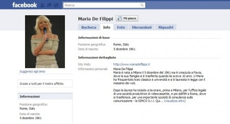 Maria De Filippi su Facebook: è amata o odiata?