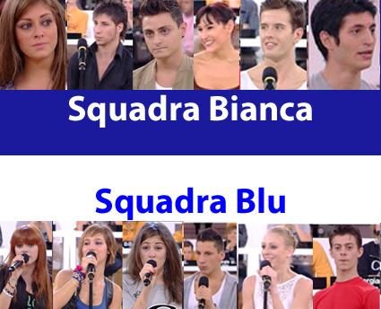 Amici 10, serale: le squadre Bianca e Blu