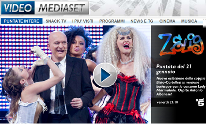 Canale 5, Zelig streaming web