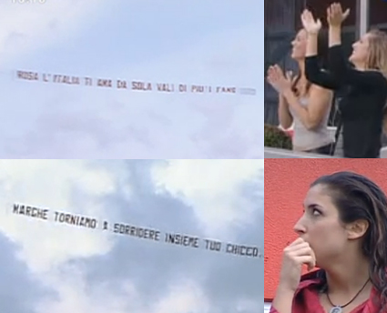 GF11, messaggi aerei per Rosa e Margherita