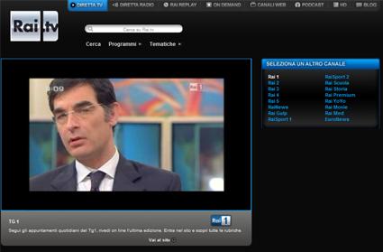 Rai1 streaming live web
