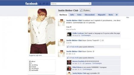 Justin bieber, facebook, club