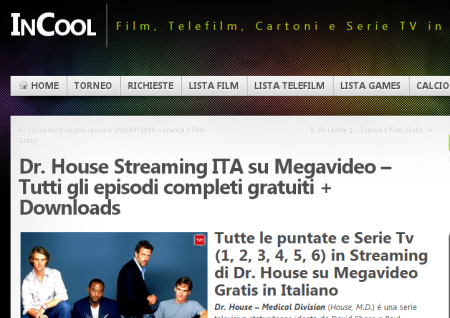house in streaming incool