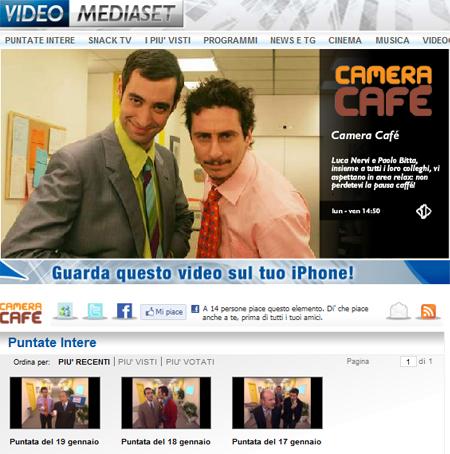 italia1 streaming camera cafe