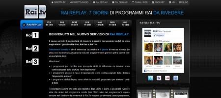rai replay, tv streaming