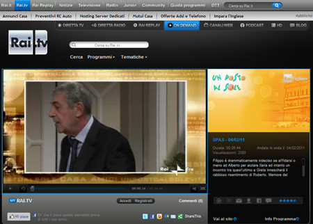 Rai 3 Serie Tv streaming tv