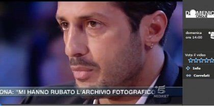 Fabrizio Corona vs tutti a DomenicaCinque: non esistono foto compromettenti di Berlusconi