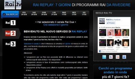 raidue replay streaming