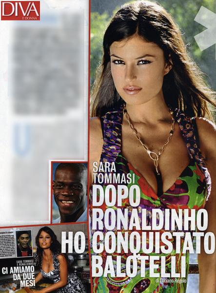 Sara Tommasi, dopo Ronaldinho è amore o no con Mario Balotelli?