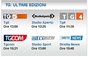 tg mediaset streaming