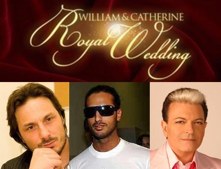 William & Kate, alle nozze anche Fabrizio Corona, Andrea Spadoni e Cristiano Malgioglio