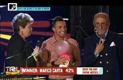 TRL Awards 2011: ecco i vincitori, Marco Carta è il Best Talent Show Artist