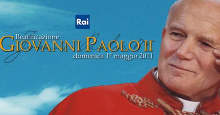 Ascolti tv domenica 1/5/2011: tra Vespa e Bonolis vince Giovanni Paolo II beato