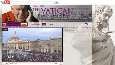 Beatificazione Giovanni Paolo II, diretta video