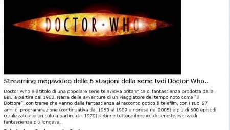 doctor who megastreaming