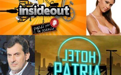 Melissa Satta debutta su RaiDue con Insideout, Calabresi lancia Hotel Patria su RaiTre