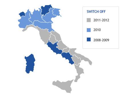 Digitale Terrestre switch-off 2011, prime date per Liguria e Italia Centrale