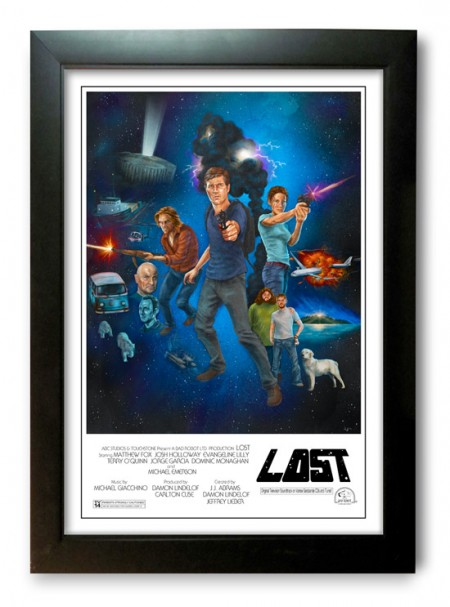 lost is the new star wars print framed