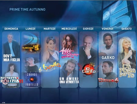 mediaset autunno 2011 prime time canale5
