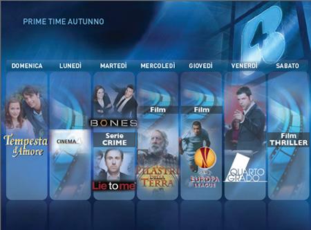 mediaset autunno 2011 prime time rete4