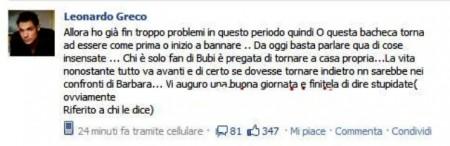 Uomini e Donne: Leonardo Greco parla di Bubi e si scontra con i fan