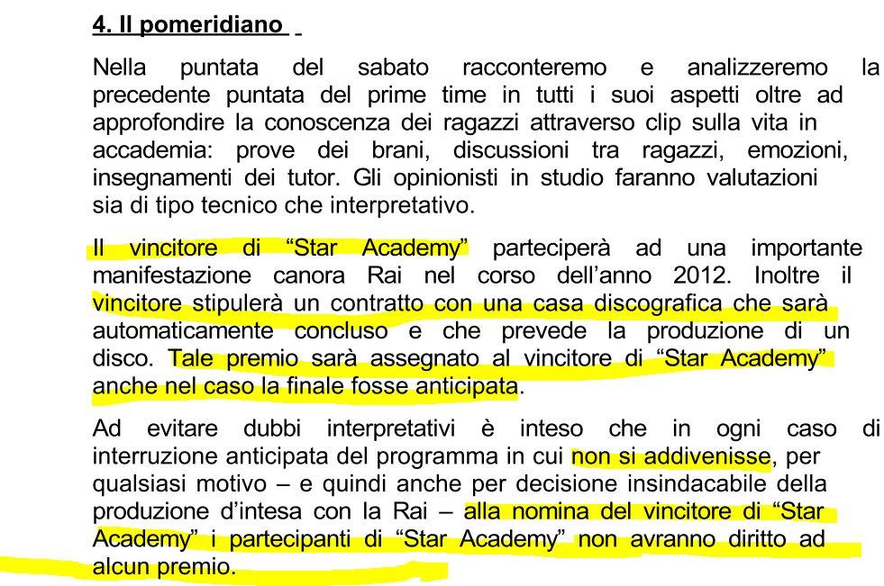Star academy regolamento