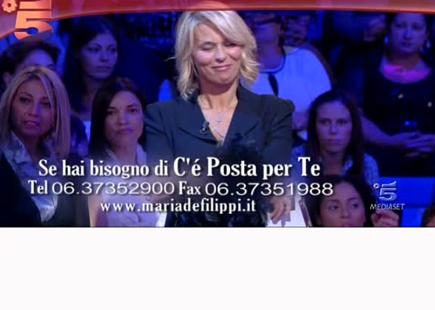 Ascolti Tv sabato 29 ottobre 2011: C'è Posta per te sfiora i 5 milioni di spettatori