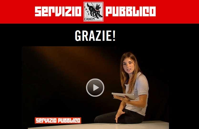 Servizio Pubblico di Santoro, Nichi Vendola e Antonio Di Pietro testimonial