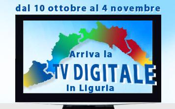 Digitale Terrestre: switch-off Liguria al via dal 10 ottobre