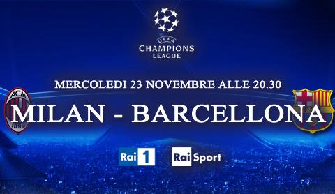 Programmi tv stasera, oggi 23 novembre 2011: Milan-Barcellona, Un amore e una vendetta, Le Iene