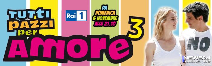 Programmi tv stasera, oggi 6 novembre 2011: Tutti pazzi per amore 3, Mtv Europe Music Awards 2011