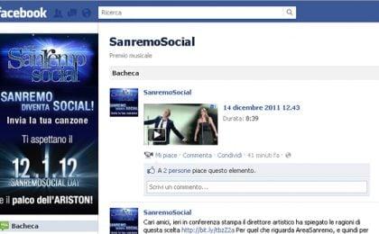 Sanremo 2012 diventa Social: su Facebook il contest per i Giovani