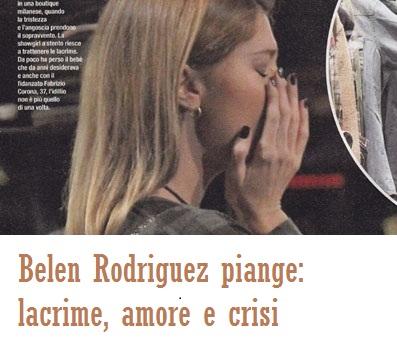 Belen Rodriguez, lacrime amare dopo un litigio con Corona