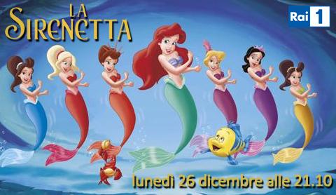 Programmi tv stasera, oggi 26 dicembre 2011: La Sirenetta, Grande Fratello 12, Earth