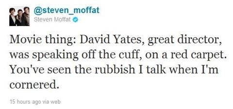 steven moffatt twitter no who movie yates