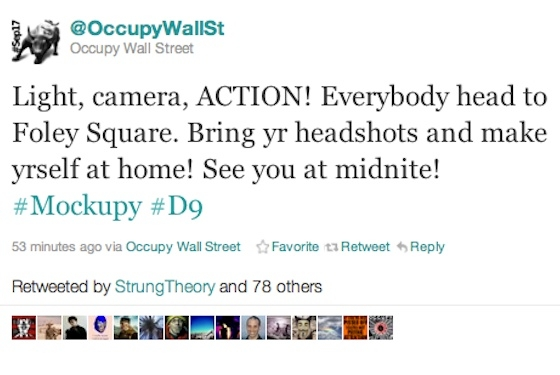 twitter occupy wall street